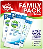 Dettol Antibacterial Surface Cleansing 252 Wipes Family Pack