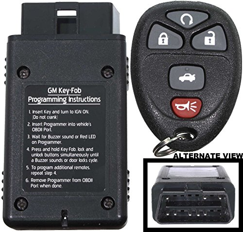 APDTY 24842 Replacement Keyless Entry Remote Key Fob Transmitter Assembly With Easy Self Programming Tool (Replaces GM Part Number 22733524 Only; You Must Have A Working Keyless Entry System) (2008 Pontiac G6 Remote Key Fob compare prices)