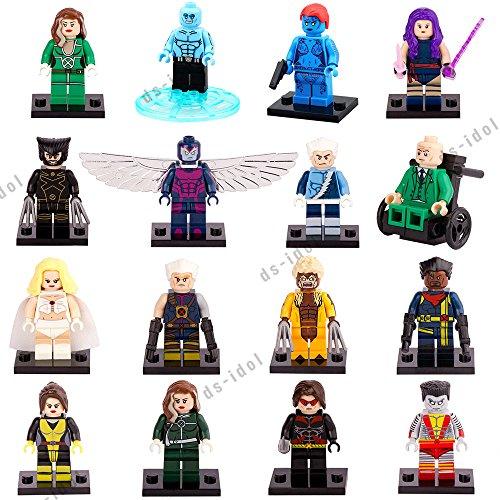 16Pcs MiniFigures Super Heroes X-Men Building Toys