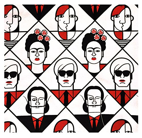 Sac fourre-tout en toile: Les artistes modernes: Dali Warhol Kahlo Klee Lichtenstein Mondrian De Chirico