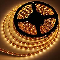 LEDwholesalers IP68 Fully Submersible Waterproof LED Flexible Strip with 300xSMD3528 5m Reel, Warm White 2700K, 2028WW-27K