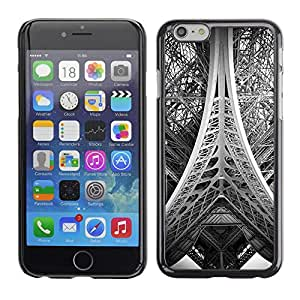 Omega Covers - Snap on Hard Back Case Cover Shell FOR Apple Iphone 6 Plus / 6S Plus ( 5.5 ) - Tower Paris Black White Photo