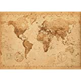 World Map Antique Style Giant Poster 100x140cm
