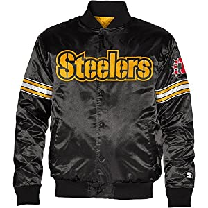 Pittsburgh Steelers Youth Starter Satin Jacket from SteelerMania