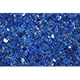 Fireglass 10-pound Reflective Fire Glass with Fireplace Glass and Fire Pit Glass, 1/4-inch, Cobalt Blue