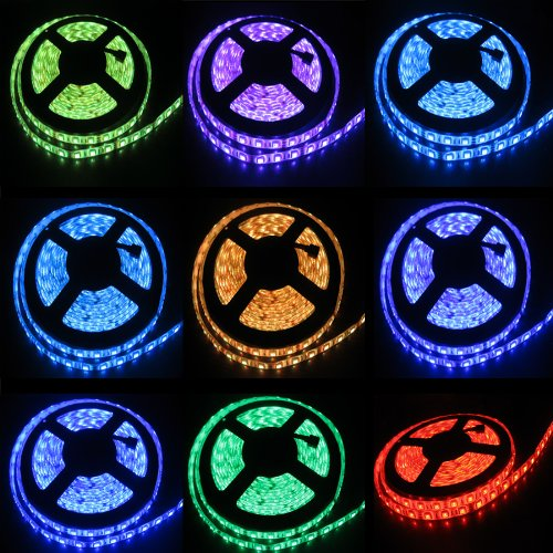 5M 300Led Smd5050 Led Strip Waterproof Light, 12V 5A Power Supply Provided(Include). Life Span: 50,000 Hours - Ideal For Gardens, Homes, Kitchen, Under Cabinet, Aquariums, Cars, Bar, Diy Party Decoration Lighting - Mood Light(Rgb)