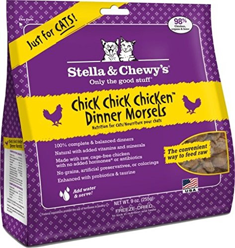 Stella & Chewy's Freeze Dried Chick Chick Chicken Cat Food Dinner, 9 oz (Stella Chewy Freeze Dried Chicken compare prices)