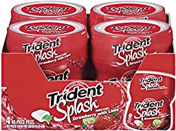 Trident Splash Sugar Free Gum (Strawberry Lime, 40-Piece, 4-Pack)