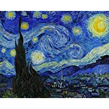 "Starry Night By Vincent Van Gogh - The World Famous Classic Art Reprint - ""10 Most Famous Paintings In The World Collection"" - Large Size Premium Quality Unframed Wall Art Print On Canvas (19 Inches X 24 Inches) For Home And Office Interior Deco"