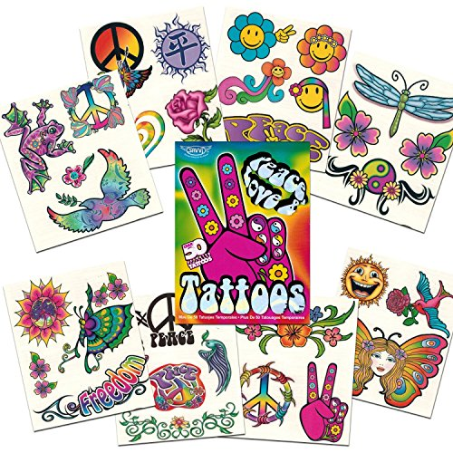 Peace, Love & Tattoos, Over 50 Temporary Tattoos - 1