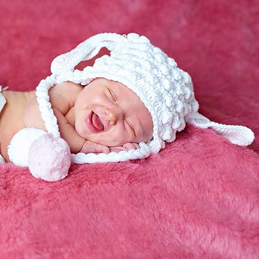 Amazon.com: Huggalugs Baby and Toddler Girls Lamb Beanie Hat: Baby