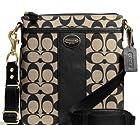 COACH Legacy Swingpack in Printed Signature Fabric & Leather in Khaki / Black 50496