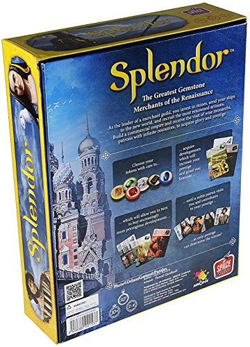 Splendor Gemstone Merchant Card Game _ for 2 to 4 players