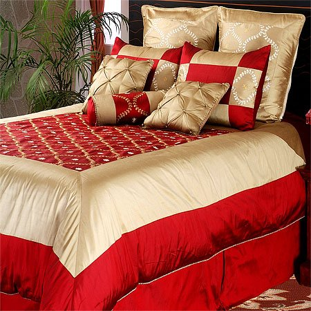 Garnet Silk Comforter Set, King