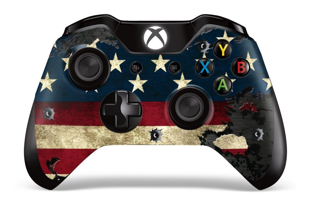 Designer Skin Sticker for the Xbox One Wireless Controller Decal Battle Torn Stripes new star wars power stormtrooper skin sticker for xbox one console 2pcs controller skin kinect protective cover