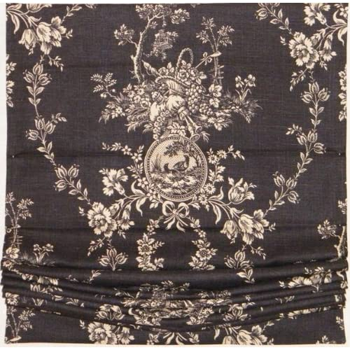 Back in Stock Black Toile Fabric Curved Style Relaxed