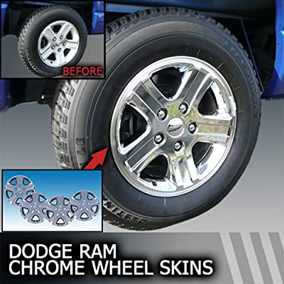 2006-2008 Dodge Ram Chrome Wheel Cover Skins 17 inch