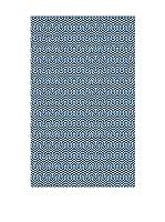 Huella deco Alfombra de Vinilo (Azul)