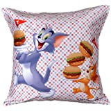 MeSleep Warner Brother Digitally Printed Tom And Jerry Cushion Cover - Multicolor (WBtj-Bdt-09-16)