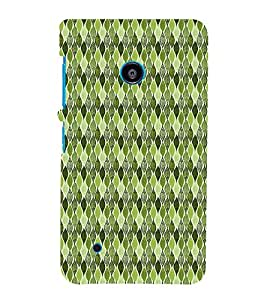 Green Leafs Autumn 3D Hard Polycarbonate Designer Back Case Cover for Nokia Lumia 530 :: Microsoft Lumia 530