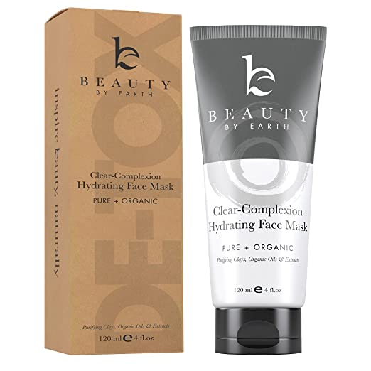 Facial Mask - Clear Complexion Hydrating Face Mask - With Natural and Organic Ingredients Treatment for Acne, Deep Pore Cleansing & Spot Treatment for Men & Women with Dry, Oily or Sensitive Skin. Made in USA