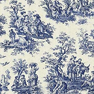 country life wedgewood waverly toile fabric by the yard other products. Black Bedroom Furniture Sets. Home Design Ideas