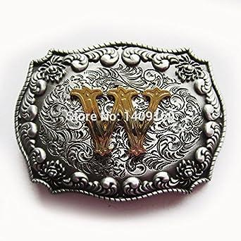 Letter U-Z Belt Buckle Gurtelschnalle Boucle de ceinture: Clothing