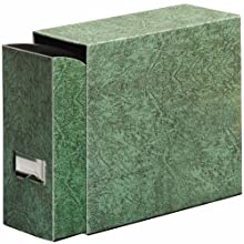 Globe-Weis Fiberboard Document Storage Case, Letter Size, Green, (102GRE)