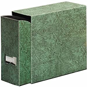 Globe-Weis Fiberboard Document Storage Case, Letter Size, Green (102GRE)