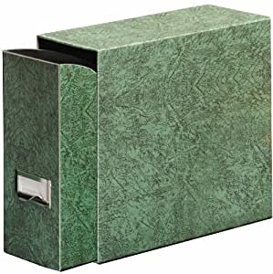 Globe-Weis Fiberboard Document Storage Case, Letter Size, Green (102GRE)