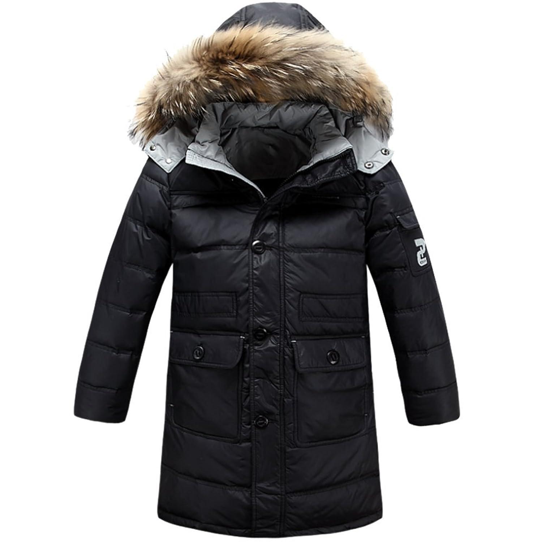 iikids Daunenjacke Kinder Jungen Winterjacke mit Fellkapuze Verdickung Lang Jacket Wintermantel Mantel Parka Outerwear Oberbekleidung Winter Kleidung bestellen