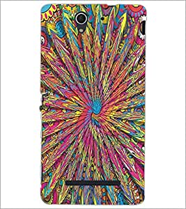 PRINTSWAG CLORFUL PATTERN Designer Back Cover Case for SONY XPERIA C3