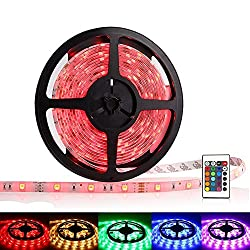 SwankyTM RGB Flexible Diwali Light Strip with Multi-functional Remote Controller and Power Supply