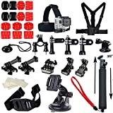 Soft Digits® Go Pro Accessory Kit Ultimate Combo Kit Accessories for Gopro 4 Gopro Hero 3+,gopro Hero 3,gopro Hero 2 and Gopro Hero Cameras Outdoor Sports Kit Parachuting Swimming Rowing Surfing Skiing Climbing Running Bike Riding Camping Diving Outing Any Other Outdoor Sports Gopro 4 Bundle Kit