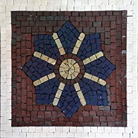 Decorative Accent Mosaic Marble Stone Art Tiles Wall Floor