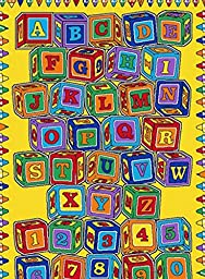 3X5 Rug Educational Abc Blocks Kids Game Time School Time Size 3\'3\