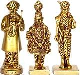 Exotic India Swaminarayan Ji - Brass Sculptures