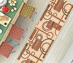 Soho Circles Beige Modern Geometric 2\'7\