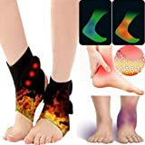 Hioplo Unisex Tourmaline Self-Heating Ankle Support Protector Ankle Brace Support, Relieve Pain Fast - Black / 1 Pair (Color: Black)