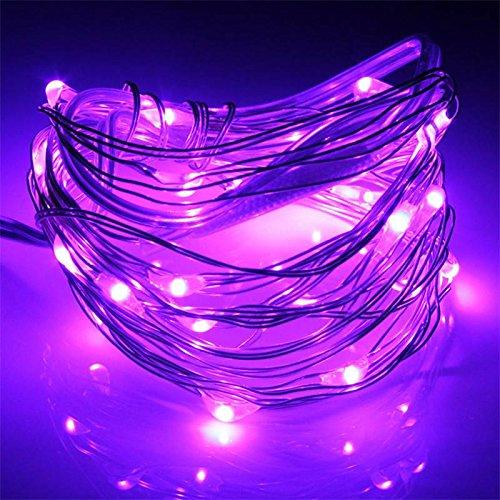 SOLMORE 3m 30 LED 12V Silver Line LED Lichterkette String Sternenhimmel Leuchte Batteriebetriebene Lila