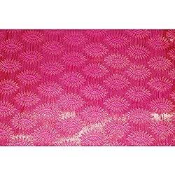 Aagaman Fashions Brocade Fabrics (TSFB034_Pink)