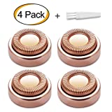 Elisabeh Facial Hair Remover Replacement Heads for Finishing Electric Hair Remover Epilators,18K Gold-Plated,Rose Gold,4PCS (Color: Hair Remover Head)