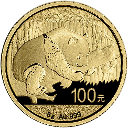 2016 CN China Gold Panda (8 g) 100 Yuan Brilliant Uncirculated China Mint