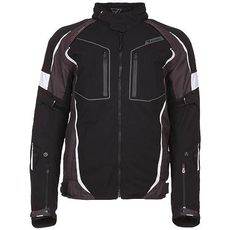 Modeka fUEGO veste en tissu-noir-sport gris
