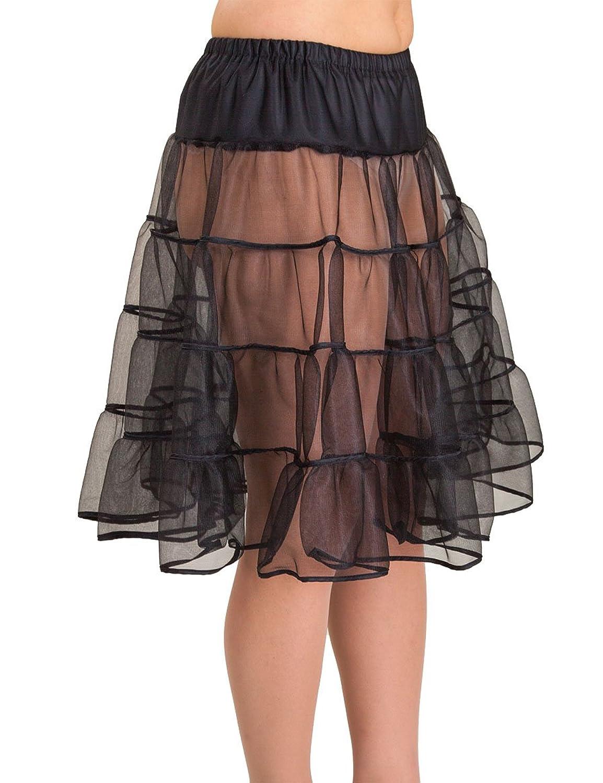 SETRINO Damen Petticoat - Unterrock SOPHIE SWING aus Chiffon knielang schwarz (SOPHIE SWING BL)