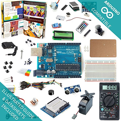 16Hertz-UNO-R3-Ultimate-Starter-Kit-LED-LCD-Breadboard-Shield-Relay-9V-Adapter-Sensor-Guide-for-Arduino