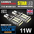 2x T15 W16W 921 CREED NO ERROR FREE CANBUS LED SIDELIGHT REVERSE LIGHT BULB