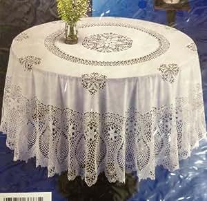 "Amazon.com: Crochet Vinyl Tablecloth (60"" Round): Home ..."