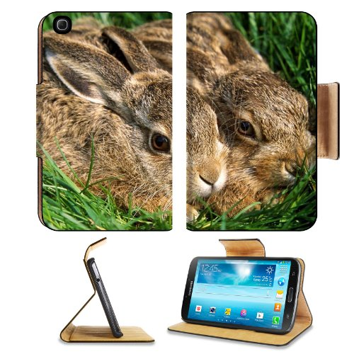 Rabbits Couple Grass Funk Hiding Samsung Galaxy Tab 3 8.0 Flip Case Stand Magnetic Cover Open Ports Customized Made to Order Support Ready Premium Deluxe Pu Leather 8 7/16 Inch (215mm) X 5 6/8 Inch (145mm) X 11/16 Inch (17mm) Liil Galaxy Tab3 Cases Ta