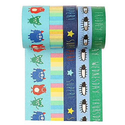 wise-bird-blue-green-washi-tape-monster-eyes-pattern-holiday-decoration-party-decoration-w14